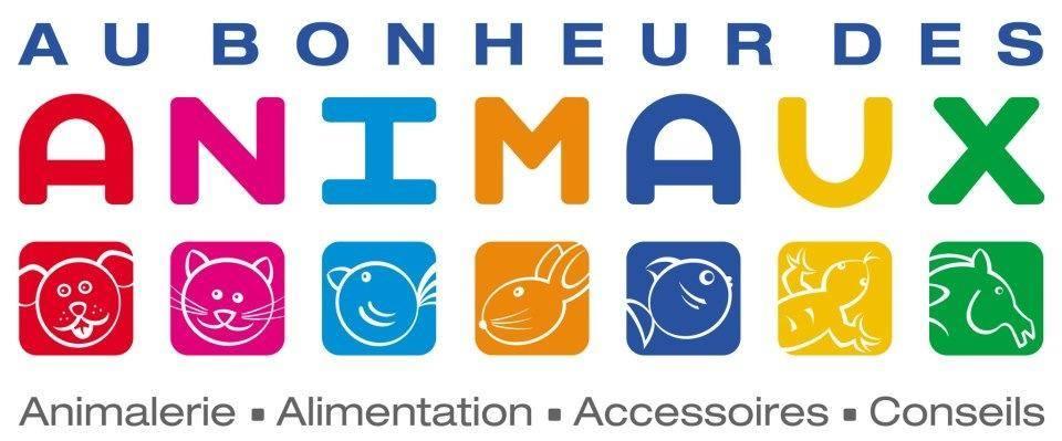 Logo Au bonheur des animaux. Un grand merci pour votre soutien.